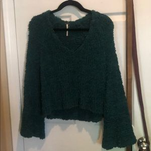 Free people sweater teal